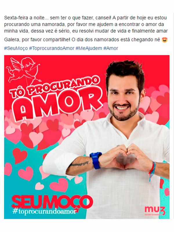 CANTOR SEU MOÇO FAZ CAMPANHA PRA ENCONTRAR SEU AMOR - Eloisa Mattos