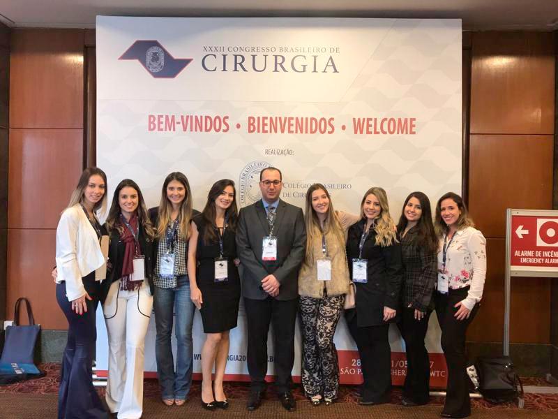 PROFESSORES E ALUNOS DO CURSO DE MEDICINA FACERES PARTICIPARAM DO XXXII CONGRESSO BRASILEIRO DE CIRURGIA - Eloisa Mattos