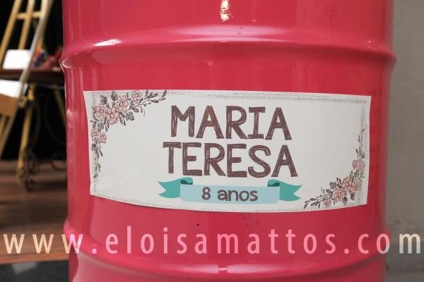 """ANIVERSÁRIO DE 8 ANOS DE MARIA TERESA   """"UMA PINTORA ITALIANA"""" - Eloisa Mattos"""