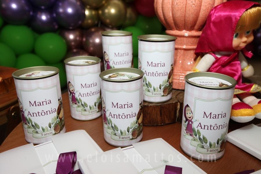 ANIVERSÁRIO DE 3 ANOS DA MARIA ÂNTONIA –MASHA E O URSO - Eloisa Mattos